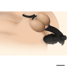 Анальная втулка с эрекционным кольцом и кольцом для мошоки