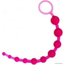 Анальная цепочка TOYFA розовая 30 см