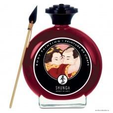 Декоративная крем-краска для тела Shunga Шампанское и клубника 100 мл