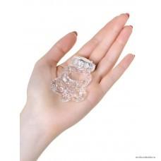 Виброкольцо с петлей для мошонки TOYFA прозрачный