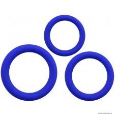 Набор из 3-х эрекционных колец SEXY FRIEND силикон синий