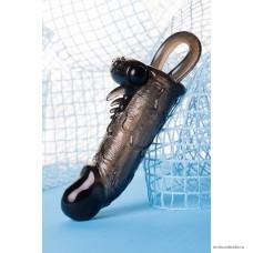Насадка Toyfa XLover, для увеличения размера с кольцом и вибрацией 14,5 см
