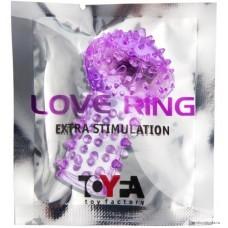 Вибронасадка на палец TOYFA фиолетовый 6,5 см