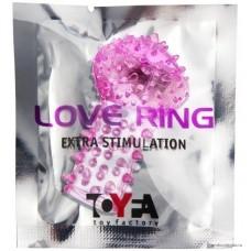 Вибронасадка на палец TOYFA розовый 6,5 см