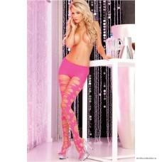 Колготки с вырезами Pink Lipstick розовые