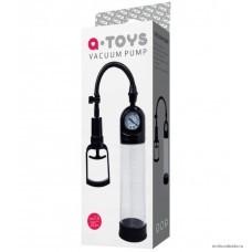 Вакуумная помпа для пениса TOYFA A-Toys с манометром прозрачная
