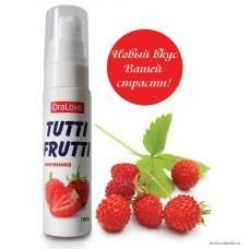 Съедобная гель-смазка TUTTI-FRUTTI для орального секса со вкусом земляники 30 мл